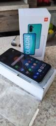 Smartphone Redmi Note 10 4/128GB branco novo
