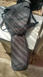 Capa e mochila para violão ou guitarra, só 38,00