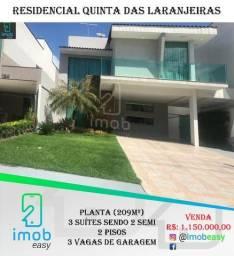 Casa no Residencia Quinta das laranjeiras, 3 suítes sendo 2 semi, área externa gourmet