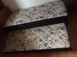 Cama box completa com cama auxiliar