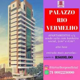 Lançamento no Rio Vermelho 50 a 220m² - Palazzo Rio Vermelho A partir R$ 349 mil