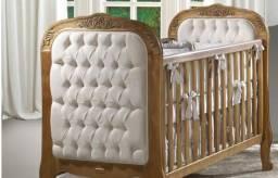 Berço cama Luís XVII capitonê