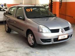 Renault Clio Sedan Expression 1.0 Flex 2007 Completo Muito Conservado