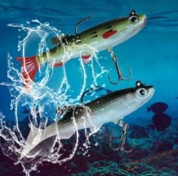 Kit 2 Peixes Isca De Pesca Silicone Isca Artificial