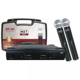 Microfone MXT duplo sem fio UHF-302