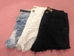 Kit 3 Shorts Jeans - TAM 40