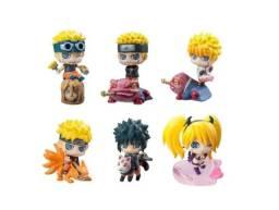 Naruto 6 Bonecos Miniatura Anime Jutsu Gamabunta Kurama