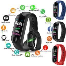 Smartband M3 Relógio Inteligente Bracelete Coração Pressão Conecta App