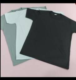 Camiseta básica fio 30.1 100% algodão