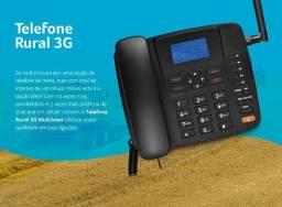 Celular Rural Fixo Multilaser Quadriband 3G Preto -