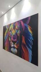 Conjunto de 3 quadros maravilhosos- 180x90