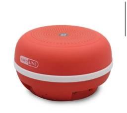 Caixa de Som Portátil HardLine 3W RMS Vermelho Bluetooth/MicroUSB