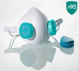Máscara Respiratória Proteção facial Eva Injetado TNT80 Pff2 N95 SMS50