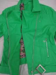 Jaqueta de courino verde