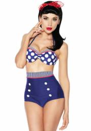 Biquini Retrô Pin Up Preto Hot Pants Verão 2020