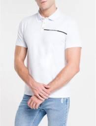 Camiseta Polo Calvin Klein Jeans Branca