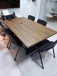 Mesa de escritório 5 cadeiras