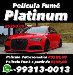 Película Platinum Fumê para vidros de carros hb20,onix,Hilux,Corolla,Honda civic