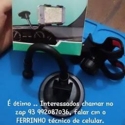 Suporte de carro para celular , novo, somente na cor preta , 20 reais pra vim buscar ..