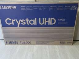 "Smart TV Crystal UHD 4K LED 55"" Samsung - 55TU8000 Wi-Fi ALEXA  HDR 3 HDMI 2 USB LACRADA!"