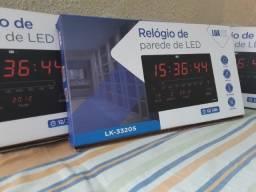 Relógio De Parede Digital Grande C/ Termômetro, Data e Mês (entrega grátis)