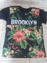 Camisetas da moda outono inverno verão floridas caveiras só $30,00
