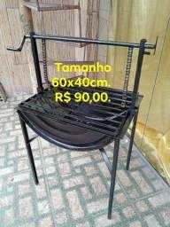 Churrasqueira Nova(tambor) R$ 90,00 a vista débito ou Pix. Entrega grátis toda Manaus.