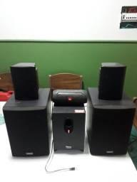 Home theater Philco PHT 510 com caixas Yamaha e JBL