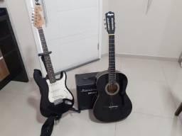 Guitarra + violão + Caixa Som