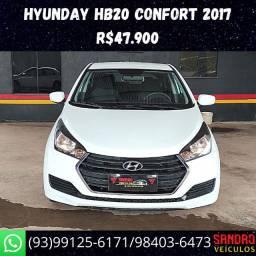 Hb20 Confort 2017 Flex R$47.900 Sandro Veículos */ *