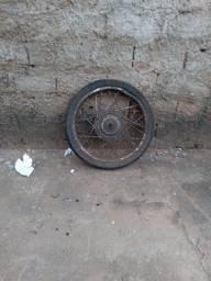 Roda completa de biz com pneu e camera de ar