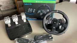 Volante simulador g920 xbox/pc semi novo