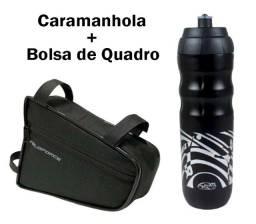 Kit Bolsa De Quadro + Caramanhola Garrafa Térmica Impacto 550ml