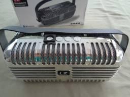 Caixa de Som L2 Bluetooth -Retrô Prata - Nova