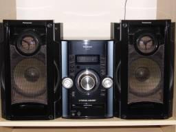 Sistem Panasonic 380w pancadão radio am/fm cd usb aux zerado em Poa-rs