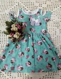 Kit com 10 vestidos infantil