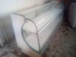 balcao, freezer com tampa de vidro