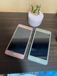 Samsung J2 prime duo rosa e dourado