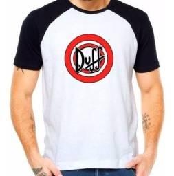 Camiseta Raglan duff The Simpson+frete grátis