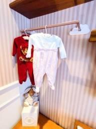 Linda Arara de roupas para bebê - 2 peças