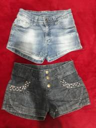 2 shorts jeans semi novos
