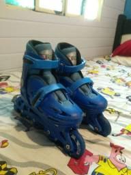 Patins, Roller com cotoveleira, joelheira e capacete