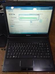 Notebook Intelbras, Intel Celeron 2 GB de RAM, HD de 120 GB ( Bateria Ok)