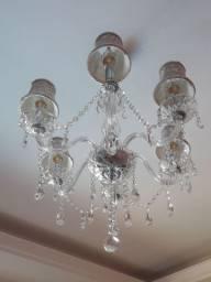 Lindo lustre cristal 6 braços