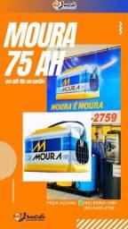 Bateria de qualidade e garantia Moura 75 ah