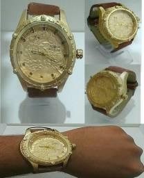 4cc5fddbdad Não tem Relógio masculino mas lindo em design estiloso prefeito NOVO ZERADO
