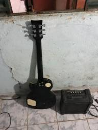 Guitarra les Paul +caixa amplificada gianini