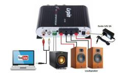 Home Amplificador LP-838 2.1 Super Bass + Fonte