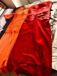 03 vestidos semi-novos