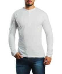 Henley camiseta mascuina